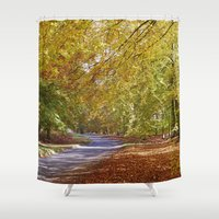 Remote Country Road Thro… Shower Curtain