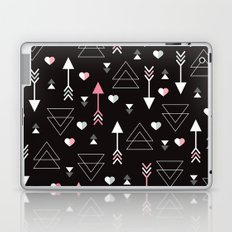 Geometric black arrow and triangle love print Laptop & iPad Skin