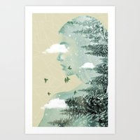 Drifting on a cloud Art Print