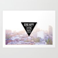 Being Happy Art Print