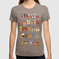 The Great Muppet Alphabet (the sequel) Womens Fitted Tee Tri-Coffee SMALL