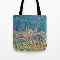 Philadelphia City Skylin… Tote Bag