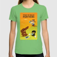 Time to read partners Womens Fitted Tee Grass SMALL
