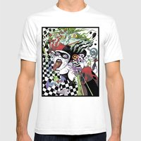 Harley Quinn And Madness Mens Fitted Tee White SMALL