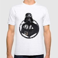 Darth Vader Mens Fitted Tee Ash Grey SMALL