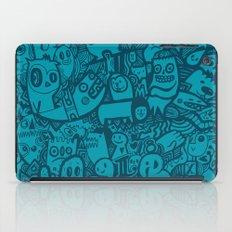 Blue Doodle iPad Case