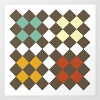 Checkers Fall Art Print