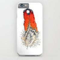 iPhone & iPod Case featuring Red Feather - 02 by TheColorK