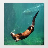 Everybody Otter Have Shiny Bubbles Canvas Print