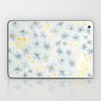 Blue Fields. Fictional Flowers. Laptop & iPad Skin