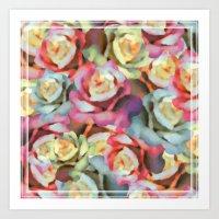 Technicolor Petal | Flor… Art Print