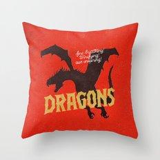 Dragons Throw Pillow