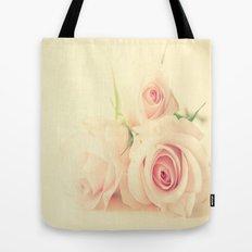Peachy Roses  Tote Bag