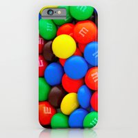 iPhone Cases featuring M&M love by Shanna Dunn