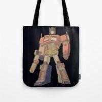 Optimus Black Tote Bag