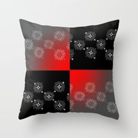 Color Block Bursts Throw Pillow