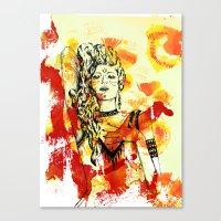 Tribal Beauty 2 Canvas Print