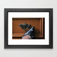 Rhinestoned Left Shoe Framed Art Print