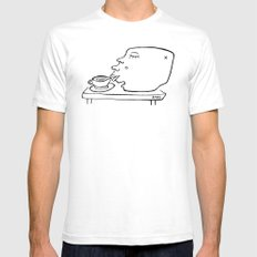 Coffee Head Mens Fitted Tee White SMALL
