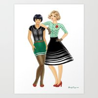 Fashion Journal: Day 27 Art Print