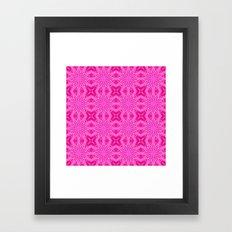 Bubblegum Pink Flowers Framed Art Print