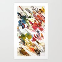 comic letter 1 Art Print