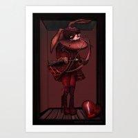 My Bunny Valentine. Art Print
