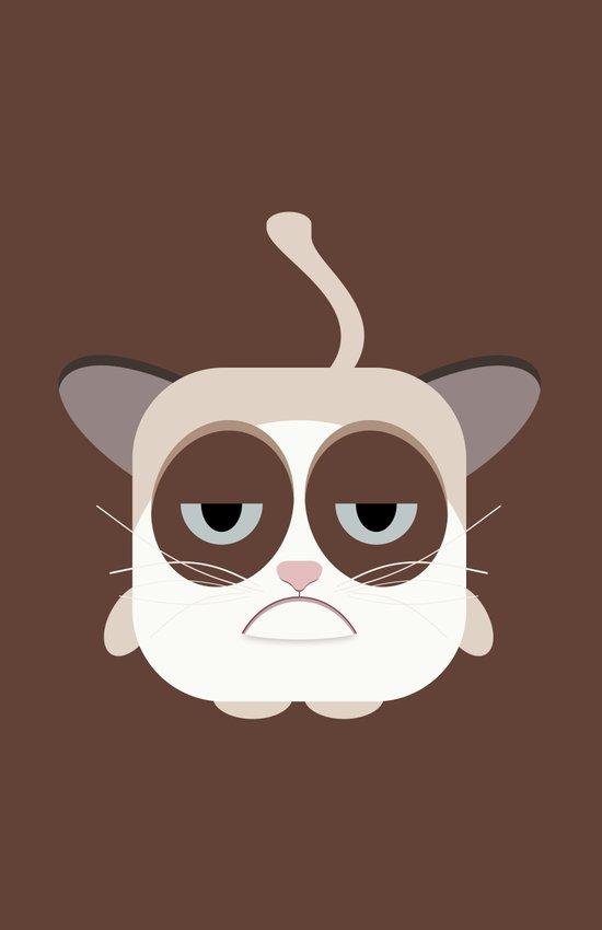 Grumpy Chubby Cat Art Print