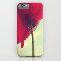 iPhone & iPod Case featuring Red Poppy, Blue Sky by V. Sanderson / Chickens in the Trees