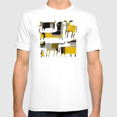 PATCHWORK DOGS SMALL Mens Fitted Tee White