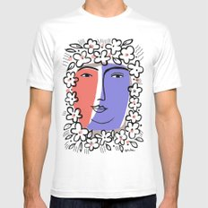 Goddess of Spring White SMALL Mens Fitted Tee