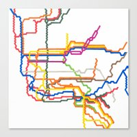 NYC Subway System (Compl… Canvas Print