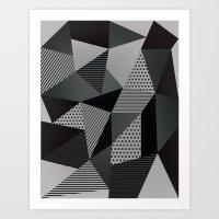 Gray Palette Art Print