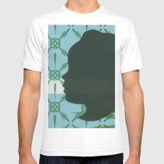 Lawn study 3 White Mens Fitted Tee SMALL