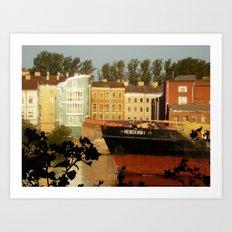 Windows into Europe Art Print