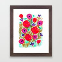 Fiona Flower Framed Art Print
