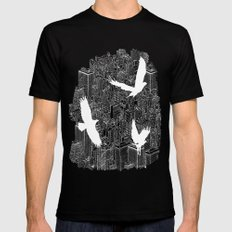 Ecotone (day) SMALL Mens Fitted Tee Black
