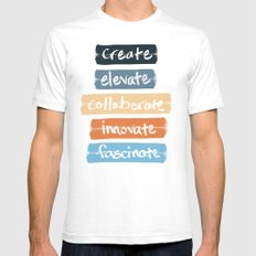 Create Elevate Collabora… Mens Fitted Tee White SMALL