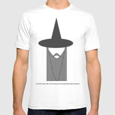 Gandalf Minimalist Mens Fitted Tee White SMALL