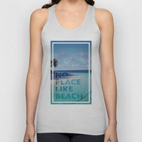 NO PLACE LIKE BEACH Unisex Tank Top