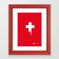 Federer Out Of Top 4 Framed Art Print