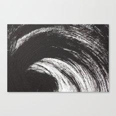 Black Brush Canvas Print