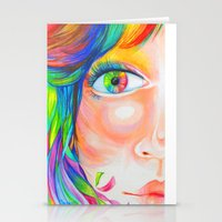 rainbow haired Stationery Cards