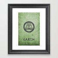 Avatar Last Airbender El… Framed Art Print