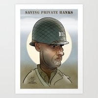 Saving private Hanks Art Print