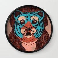 Tiger Face Wall Clock