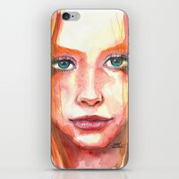 Portrait - RedHair & Freckles iPhone & iPod Skin