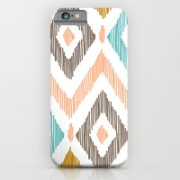 iPhone & iPod Case featuring Sketchy Diamond IKAT by Patty Sloniger