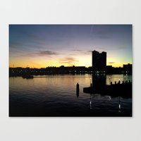 Baltimore view from National Aquarium Canvas Print