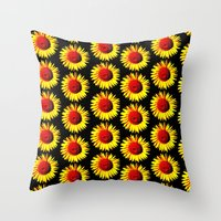 Sunflower group Throw Pillow